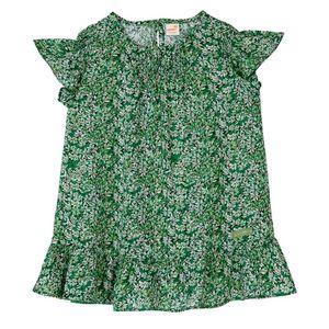Vestido-voil-de-viscose-verde-toddler-