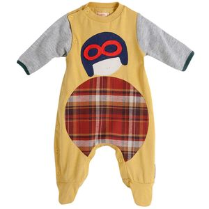 Macacao-Pit-Stop-Amarelo---Recem-Nascido
