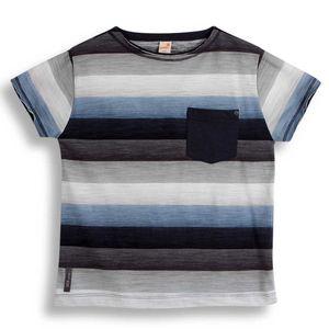 Camiseta-Nave-Manga-Curta-Cinza