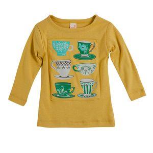 Camiseta-Cha-da-Tarde-Manga-Longa-Amarelo---Menina-Toddler