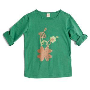 Camiseta-para-Menina-Green-by-Missako