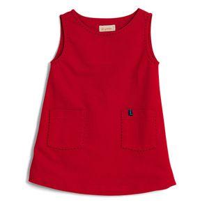 Vestido-Liso-Vermelho-Regata-Toddler-Menina
