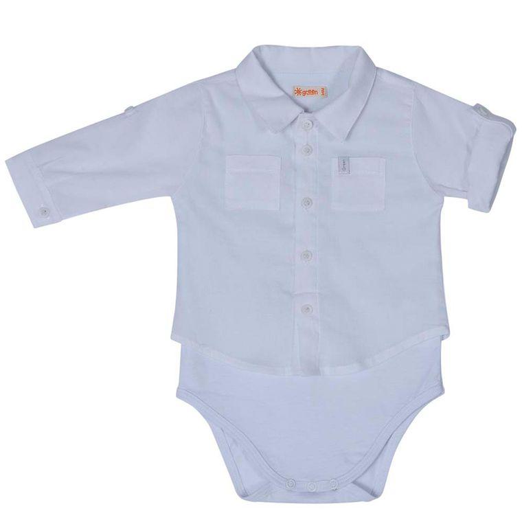 a4c088372 Body-Camisa-Branco-Bebe-Menino-Green - Loja Green