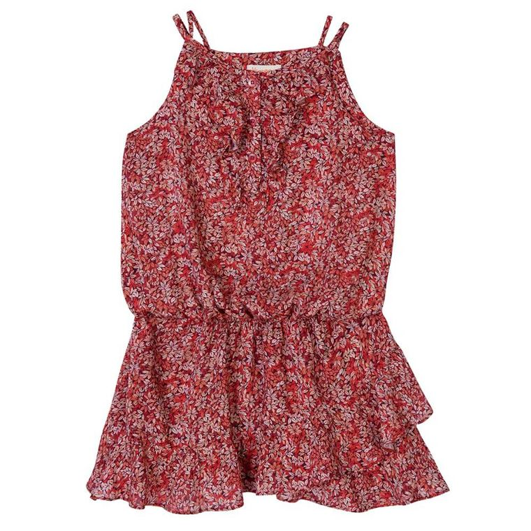Muitas vezes vestido-viscose-vermelho-menina-infantil-green-by-missako - Loja Green WJ11