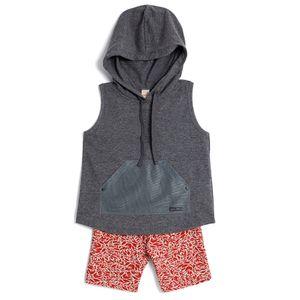 Conjunto-Blusa-com-Capuz-e-Bermuda-estampada-Infantil-Menina