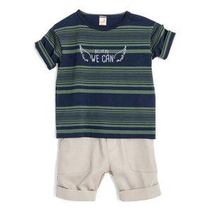 Conjunto-Camiseta-e-Bermuda-Toddler-Menino-Green-by-Missako