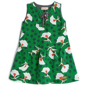 Vestido-Estamapado-Verde-Com-Ilhos-Green-by-Missako