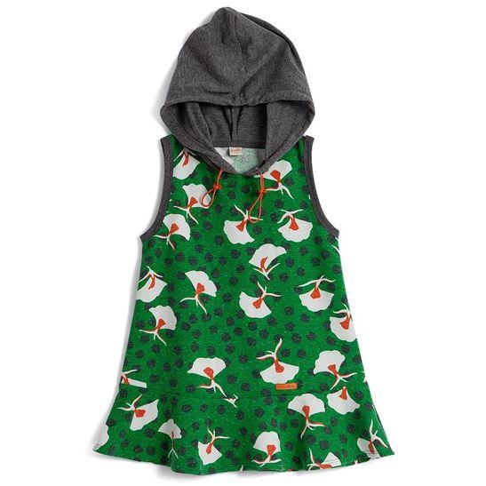 Vestido-Infantil-Estampado-Com-Capuz-Green-By-Missako