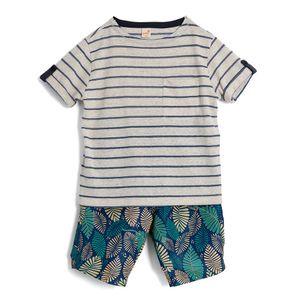 Conjunto-Camiseta-Manga-Curta-e-Bermuda-Infantil-Menino-Green-by-Missako