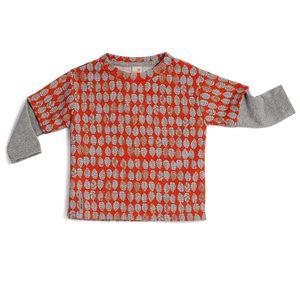 Camiseta-Manga-Longa-Toddler-Menino-Laranja-Sentidos-Green-by-Missako
