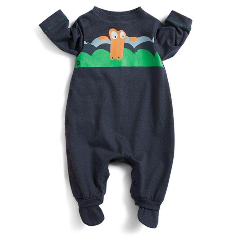 718554265 Macacão Onda Azul Escuro - Recém Nascido - Loja Green
