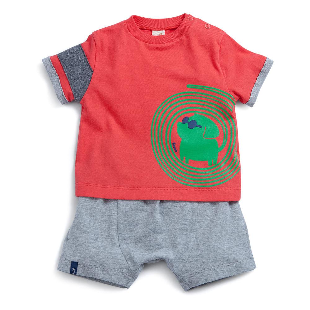c5e2f21792 Conjunto Ouse Vermelho - Bebê Menino