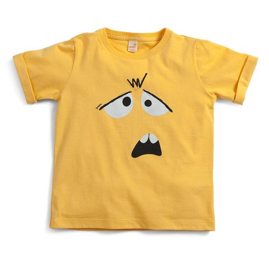 Camiseta-Seja-Voce-Mesmo-Toddler-Menino-Amarelo--Green-by-Missako