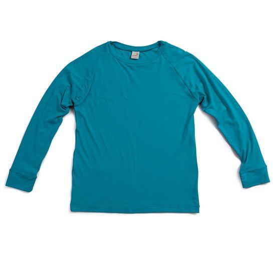 Camiseta-Infantil-com-fator-de--protecao-UV-Azul