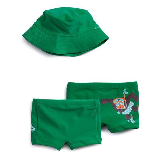 Conjunto-Praia-Maquinho-Chapeu-e-Touca-Verde-Bebe-Menino-Green-by-Missako