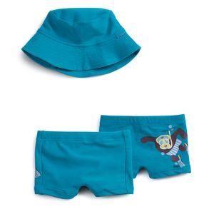 Conjunto-Praia-Maquinho-Chapeu-e-Touca-Azul-Bebe-Menino-Green-by-Missako