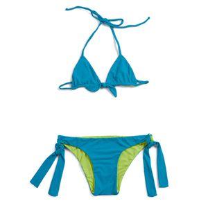 Biquini-Florescer-Azul-Infantil-menina--Green-by-Missako