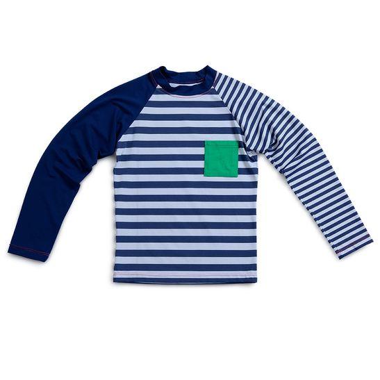 Camiseta-Raglan-Praia-Vice---Versa-de-Manga-Longa-com-Fator-de-Protecao-UV-50--Azul--Infantil--Unissex-Green-by-Missako