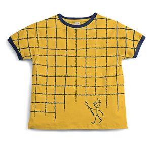 Camiseta-Manga-Curta--Infantil-Amarela--Menino-Green-by-Missako