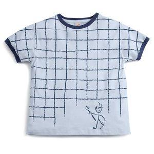 Camiseta-Infantil-de-Manga-Curta-Invente-Cinza-Menino-Green-by-Missako