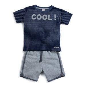 Conjunto-Camiseta-e-Bermuda--Cinza--Cool-Toddler-Menino
