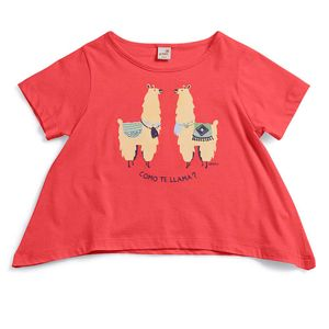 Camiseta-Tagarela-Vermelha-Infantil-Green-by-Missako