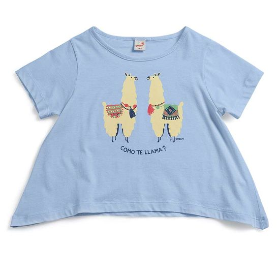 Camiseta-Tagarela-Azul-Infantil-Green-by-Missako