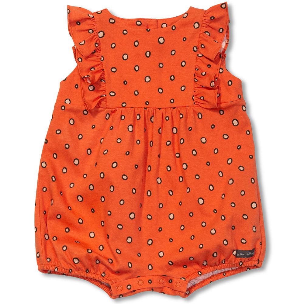9fbde19757 Macacão Tropical Green Laranja - Bebê Menina