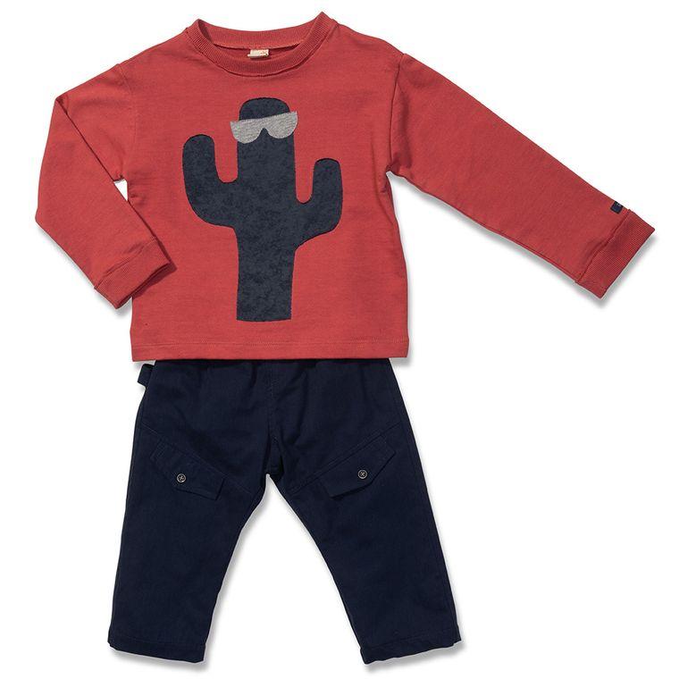 bdb79b7ac Conjunto Blusa e Calça Cacto Vermelha Green - Toddler Menina - Loja ...