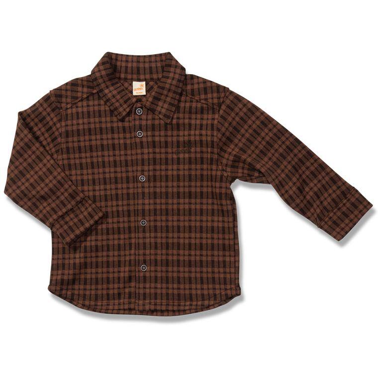 Camisa Manga Longa Xadrez Índio Marrom Green - Infantil Menino ... 27b3dec3fb3c2