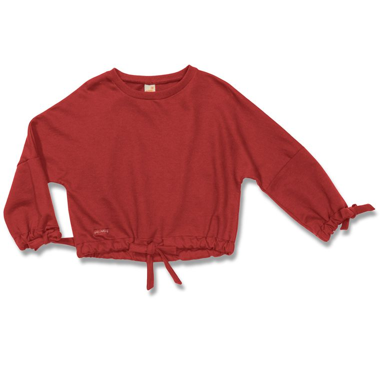 8188c2d25 Blusa Manga Longa Cromática Vermelha - Toddler Menina - Loja Green
