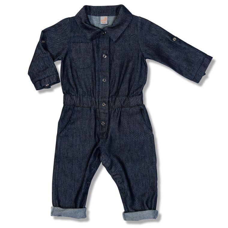75382523a Macacão Jeans Leveza Azul Green - Toddler Menina - Loja Green