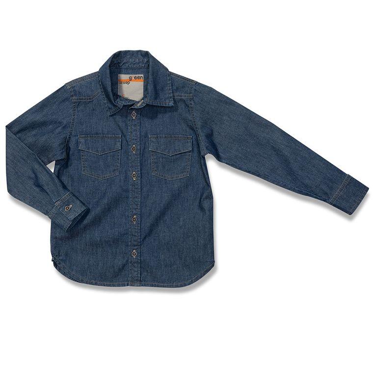 6ab7809e5f Camiseta Jeans Tribos Azul Green - Infantil Menino - Loja Green