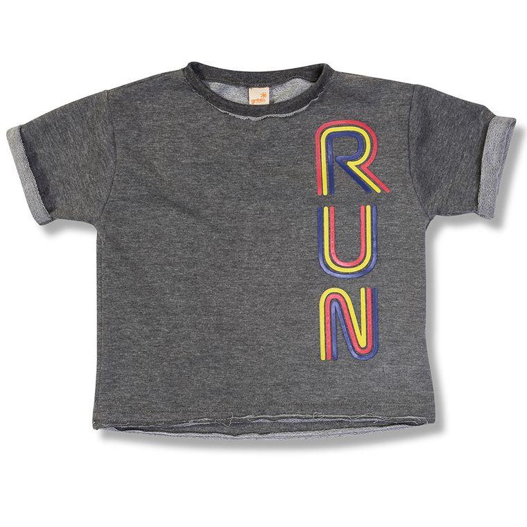 4b834d370 Camiseta Run Cinza Escuro Green - Infantil Menina - Loja Green