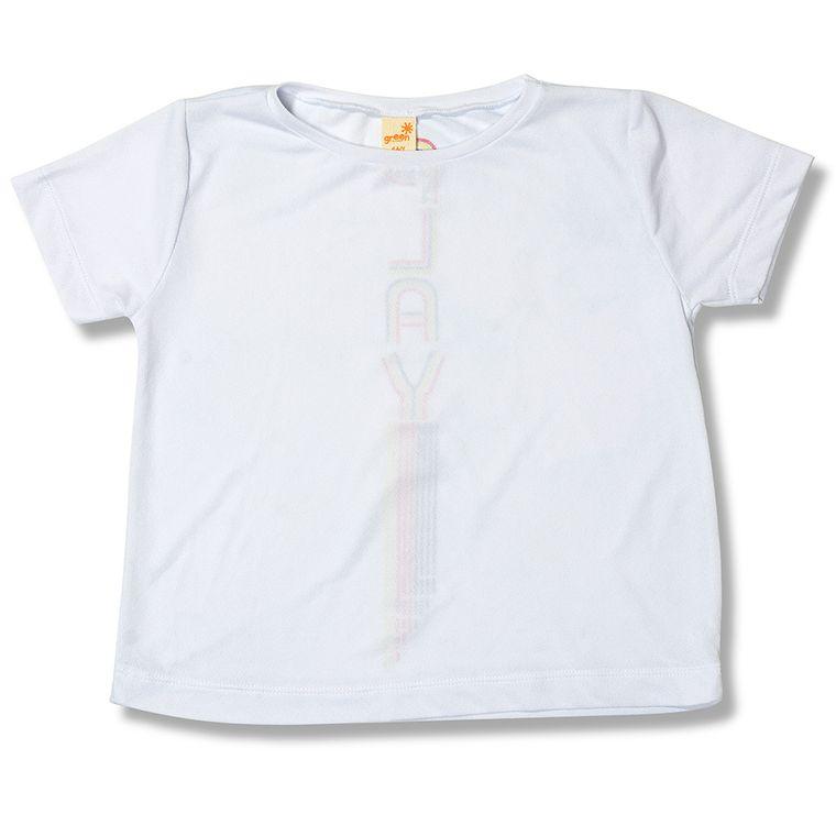 19e5ae4ec Camiseta Play Branco Green - Infantil Menina - Loja Green