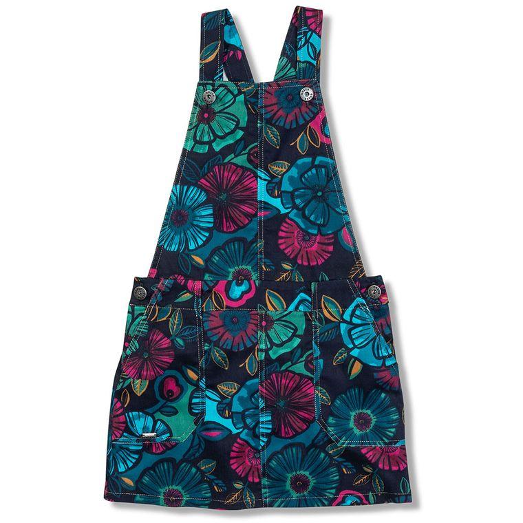 5877a9f90 Jardineira Florescer Azul Escuro - Infantil emnino - Loja Green