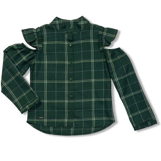 79a8f51de Camisa Xadrez Tulipa Verde - Infantil Menina - Loja Green