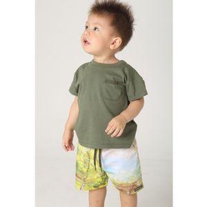 roupa-infantil-menino-conjunto-camiseta-bermuda-paisagem-verde-toddler-green-by-missako-G6001652-Frente
