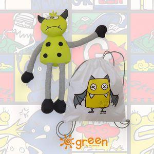 kit-dia-das-criancas-monstrinho-mochila-saco-amarelo